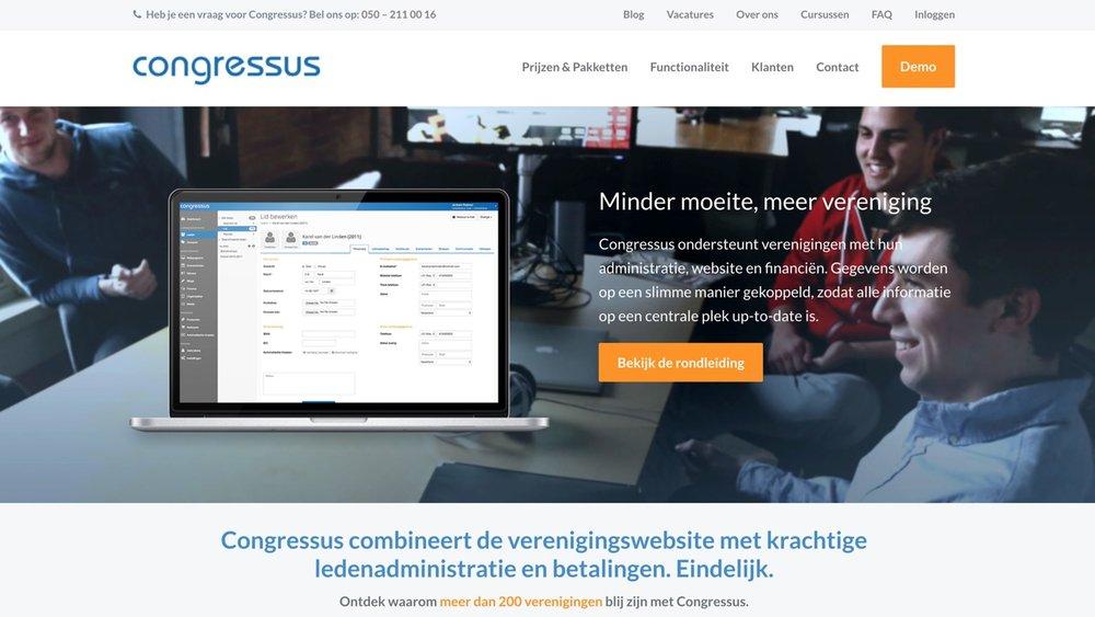 Congressus - Congressus mag ruim 200 verenigingen tot haar klanten rekenen. Geen wonder. Het combineert een verenigingswebsite met krachtige ledenadministratie en betalingen. Eindelijk.