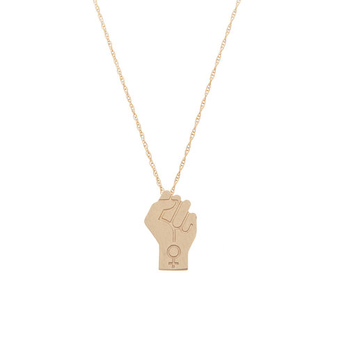 Otem power pendant necklace yellow gold mozeypictures Gallery