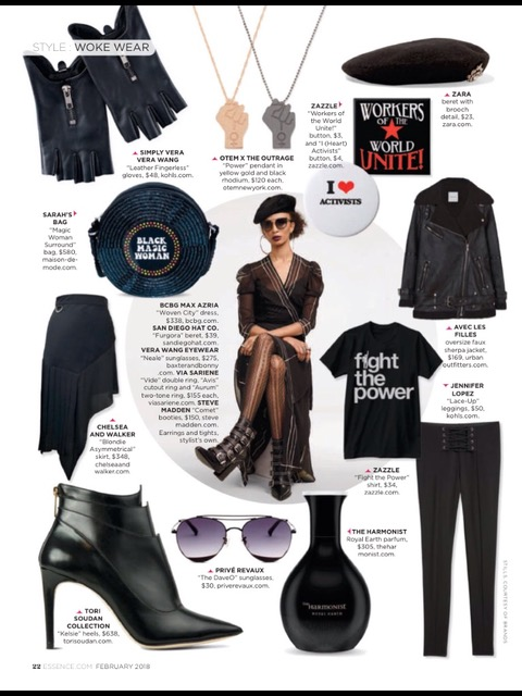 """Power Pendant"" necklace featured on Essence magazine."