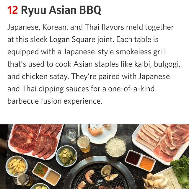 @eater_chicago Thank you so much for the mention in the 20 Sizzling Spots for Asian BBQ!