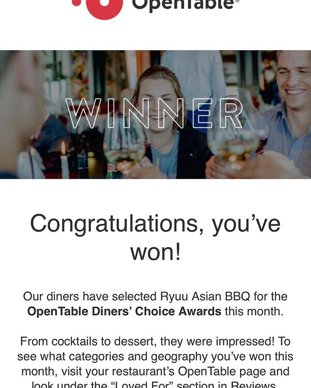 Thank you @opentable and it's diners.  Thanks to analytics, this little guy has a chance! Numbers don't lie!  Where is my bib gourmand!
