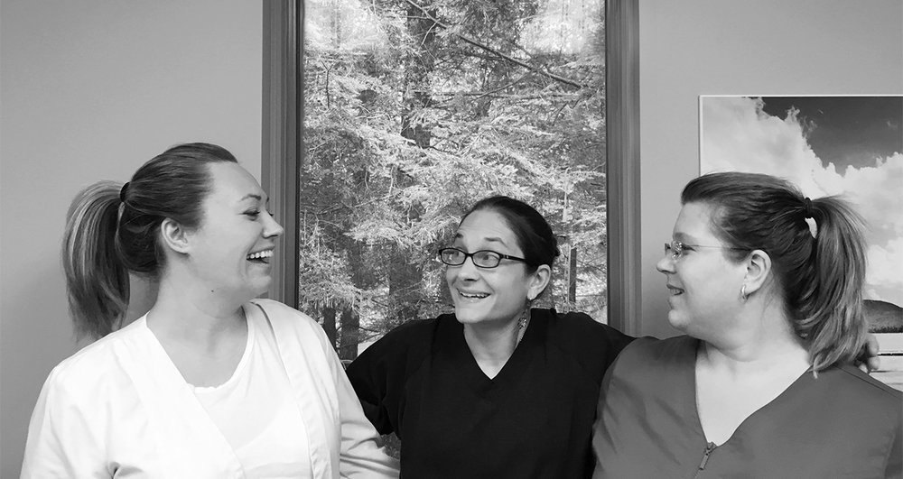 Maria (Dental Hygienest), Gina (Dental Assistant), Torey (Dental Hygienest)