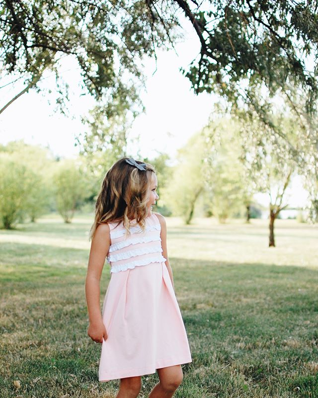 Our pink ruffle dress is one of the most popular styles we see being purchased by you! We agree, it is the perfect Easter Dress. #littleplatz