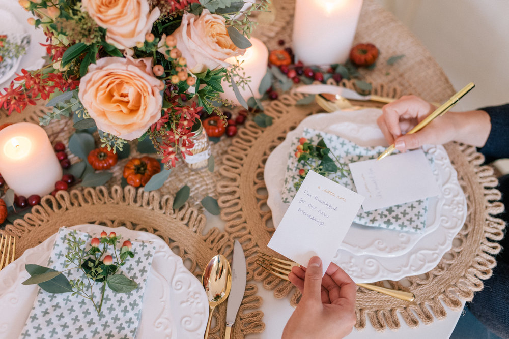 5 Thoughtful Actions for Thanksgiving   Responsibilities: Created blog post concept, sourced and led the prop styling, art direction, lead photographer, and ghost writer.  [Click the link above for the full post]
