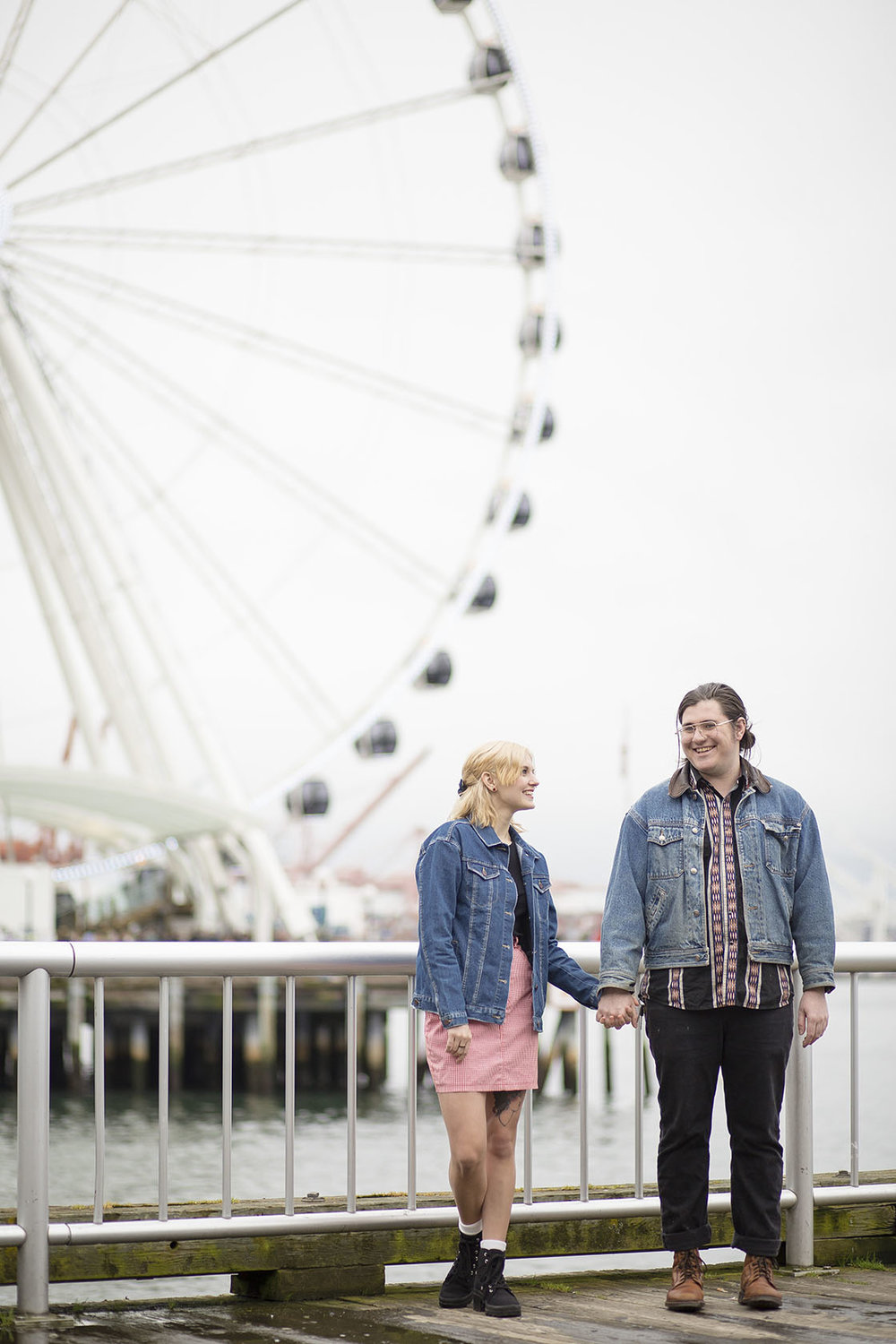 downtown seattle engagement photography