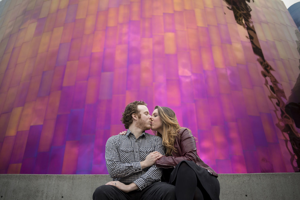 Downtown Seattle Engagement Photos by Entwined Weddings