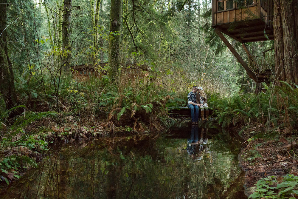 PNW Forest Engagement Photography by Entwined Weddings Seattle