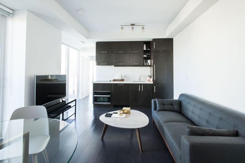 Copy of Central Yorkville Condo - Couch, Kitchen