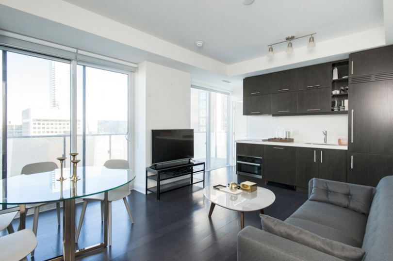 Copy of Central Yorkville Furnished Condo living room