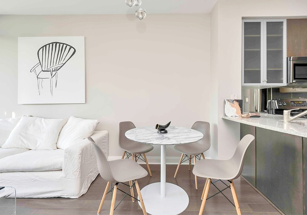 Furnished Apartments Toronto Dining Room Sofa