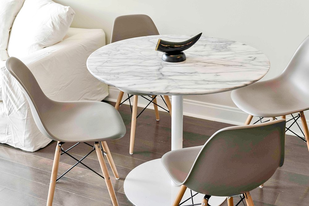 Yorkville Luxury Furnished Apartment - Marble Dining Table