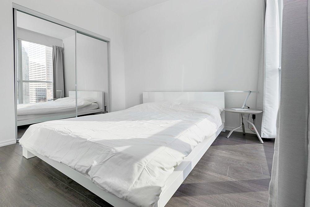Copy of Copy of Copy of Copy of Downtown Toronto Furnished Suite - Luxury Bedroom
