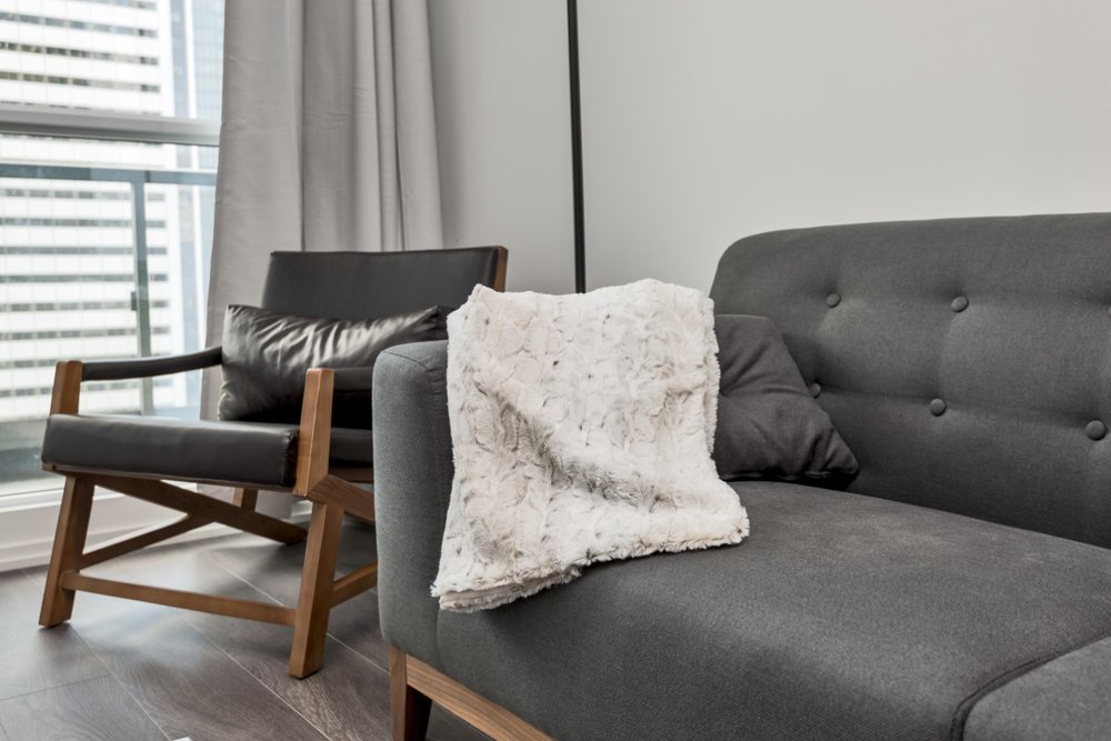 Adelaide Furnished Suite - Couch, Cashmere Blanket