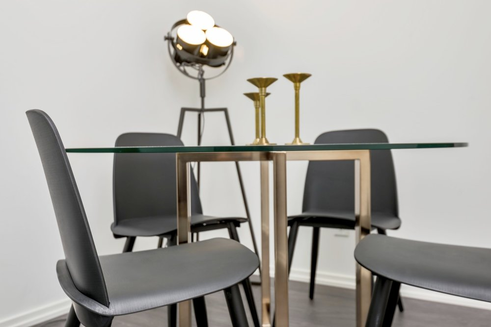 Adelaide Furnished Rental - Dining Table, Lamp