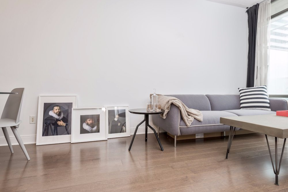 Yorkville Grand Condo - Living Room Painting Frames