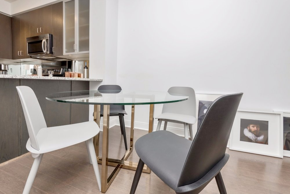 Yorkville Grand Condo - Dining Table, Glass
