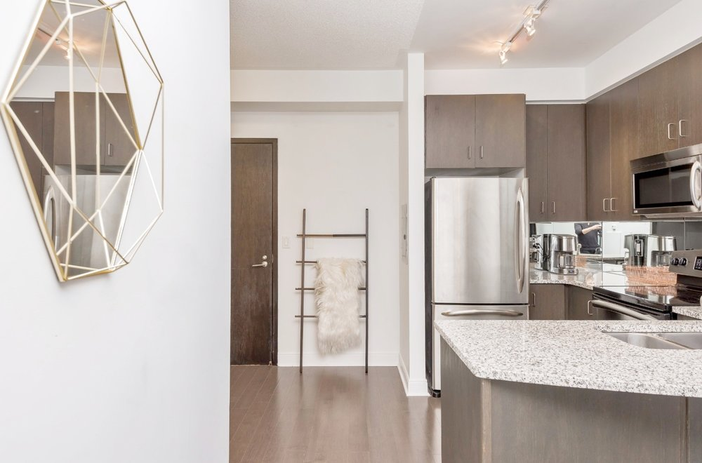 Yorkville Grand Condo - Kitchen, Mirror