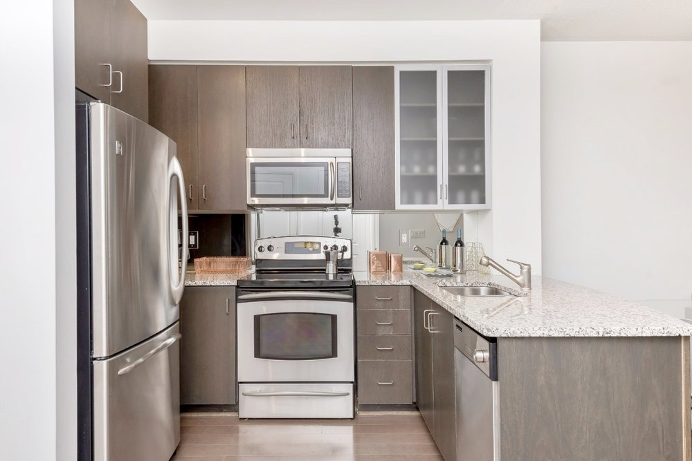 Yorkville Grand Condo - Kitchen, Granite Counters