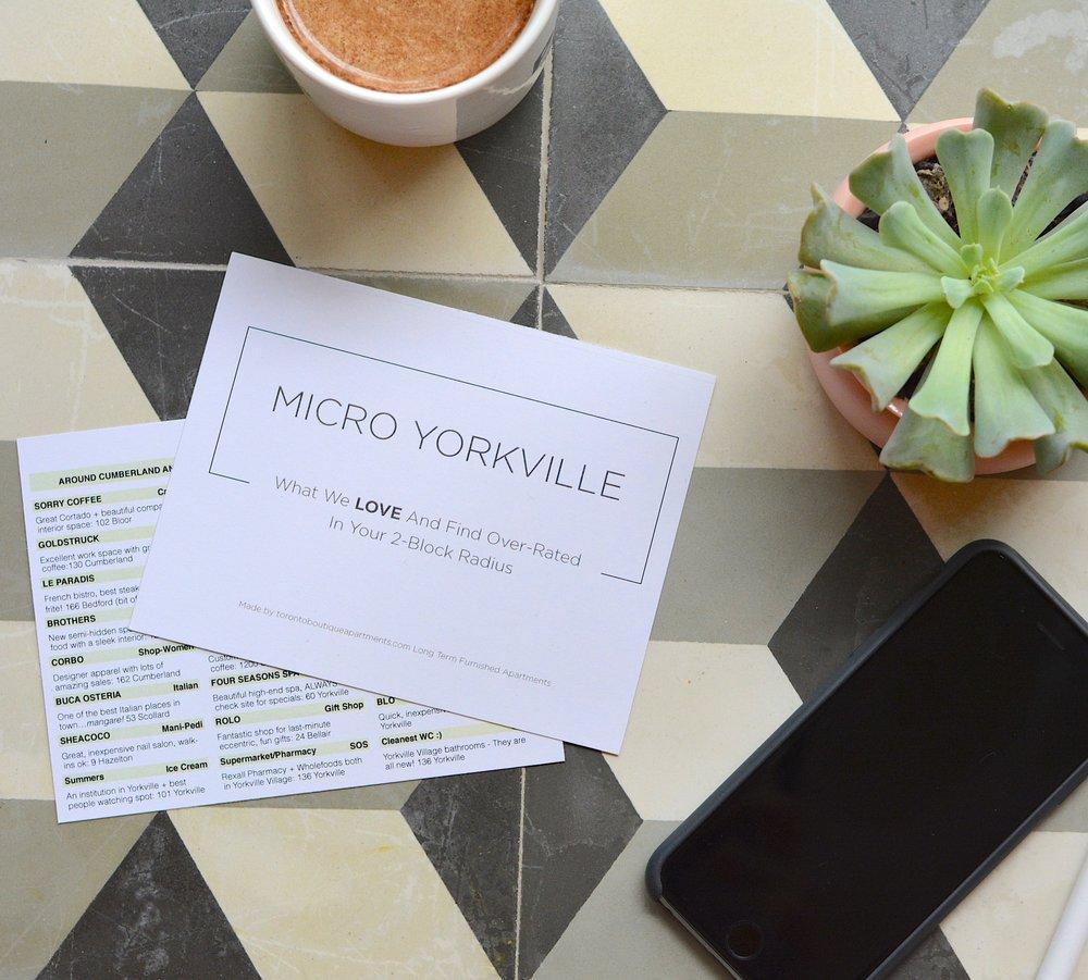New Micro-Neighbourhood Toronto Travel Guide Cards