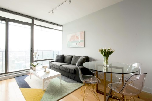Copy of short term furnished rentals toronto yorkville sofa