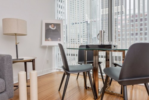 Copy of Copy of furnished apartments toronto short term Yorkville dining room