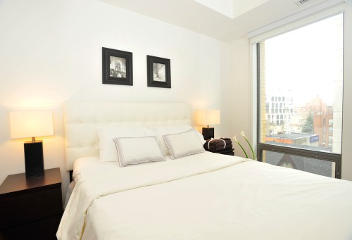 Copy of short term furnished rentals toronto Yorkville bedroom window