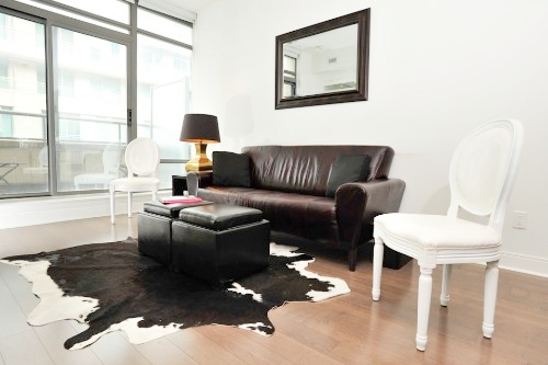 Copy of short term furnished rentals toronto Yorkville sofa carpet