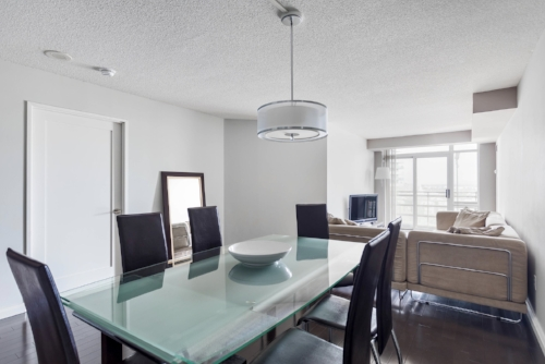 Copy of short term condo rentals toronto Yorkville dining table