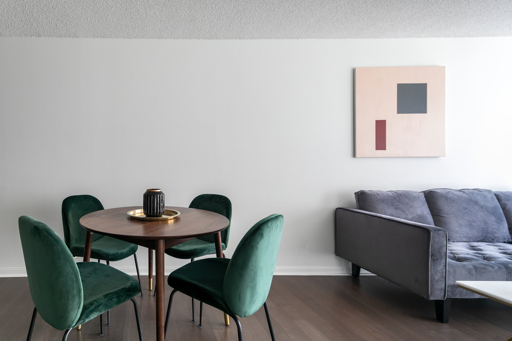 Copy of Copy of Copy of short term furnished rentals toronto Yorkville dining room art