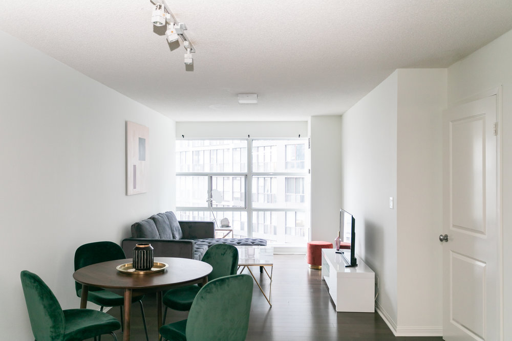 Copy of short term furnished rentals toronto Yorkville dining table