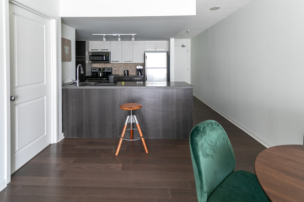 Copy of short term furnished rentals toronto Yorkville kitchen stool