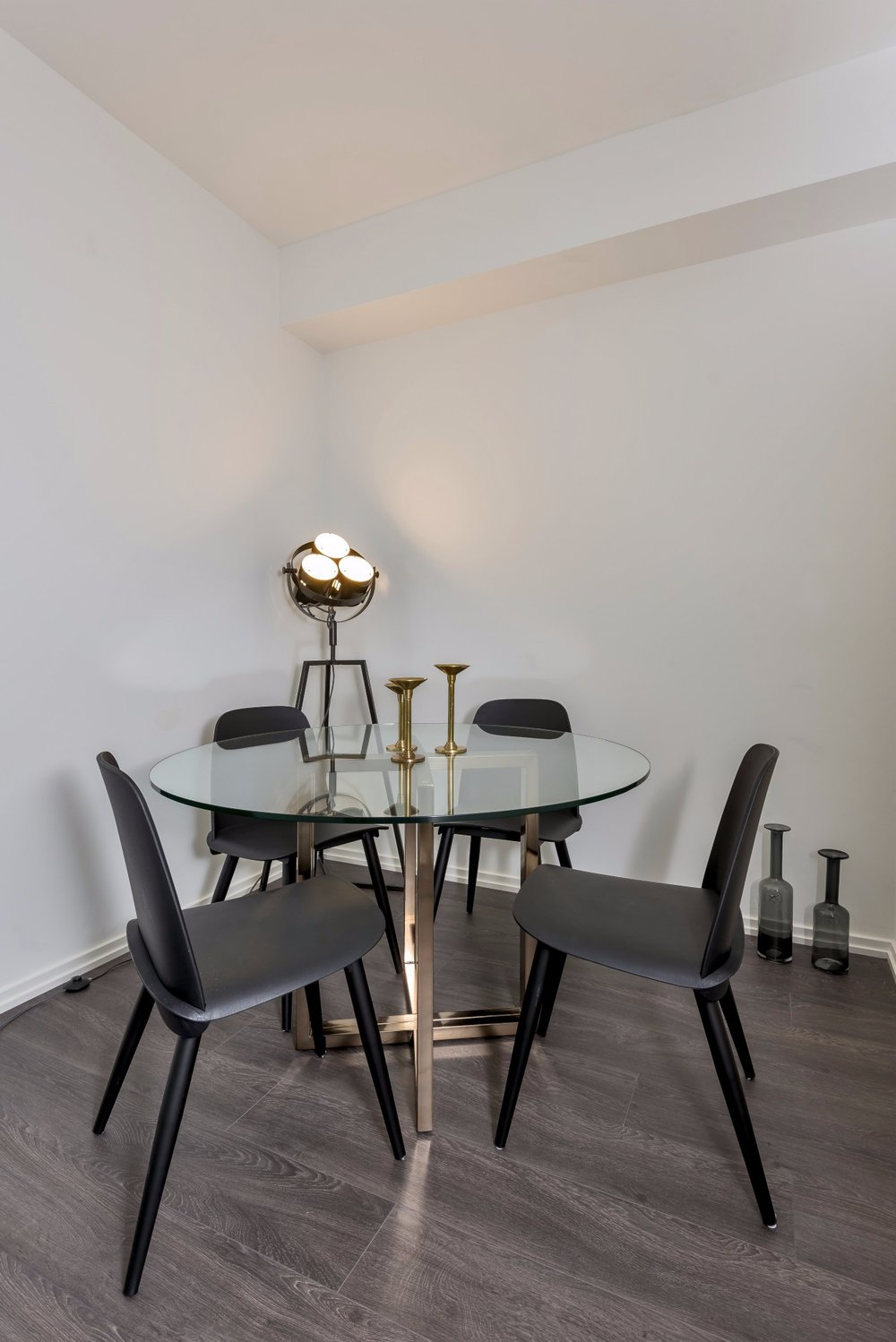 dining table, light, chairs