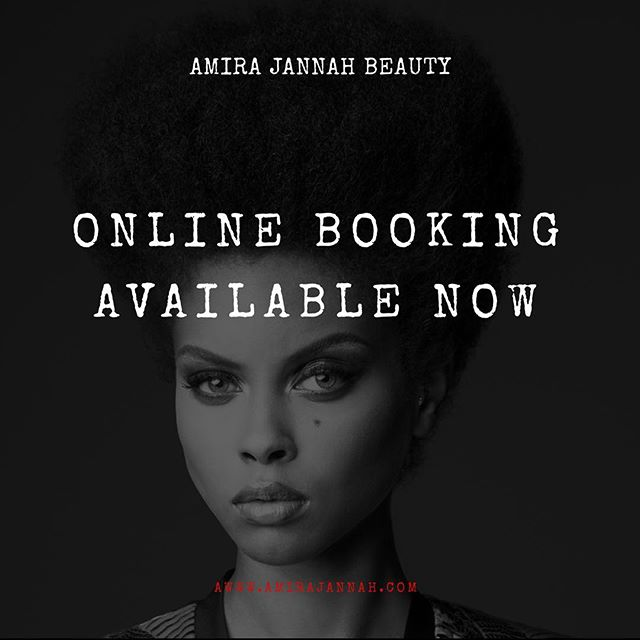 Online booking now available! www.amirajannah.com