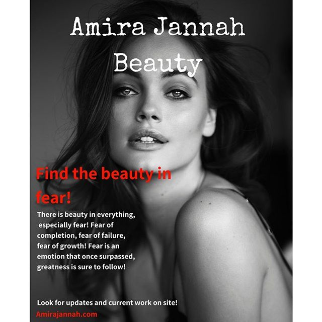When you're taking that step into the unknown, you'll have to face fear head on and once you've overcome it, greatness is sure to follow! Do you you see the beauty in that? #amirajhair #amirajannahbeauty