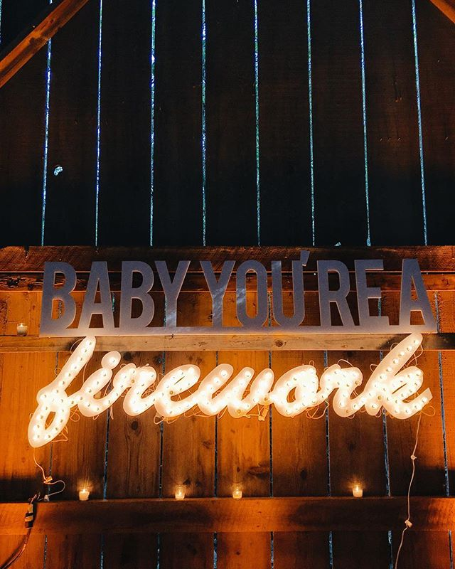 It's Friday 😍 baby you're a firework✨I will always love a good marquee sign 💗