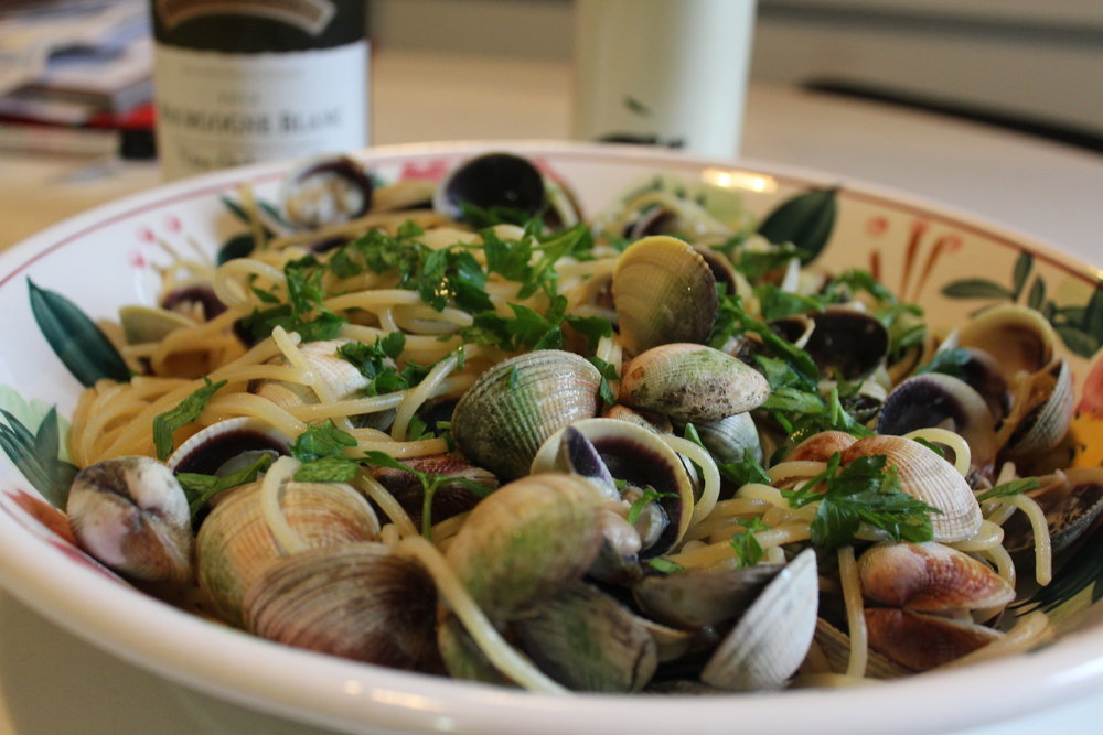 Spaghetti with clams Arthur Avenue Bronx