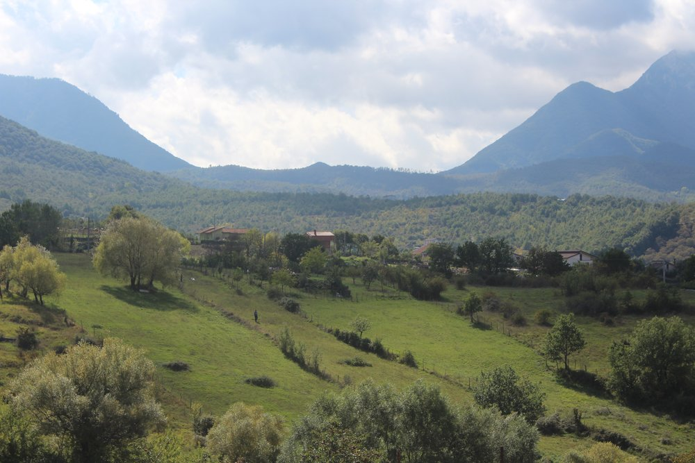 The cool, green mountains of Irpinia.
