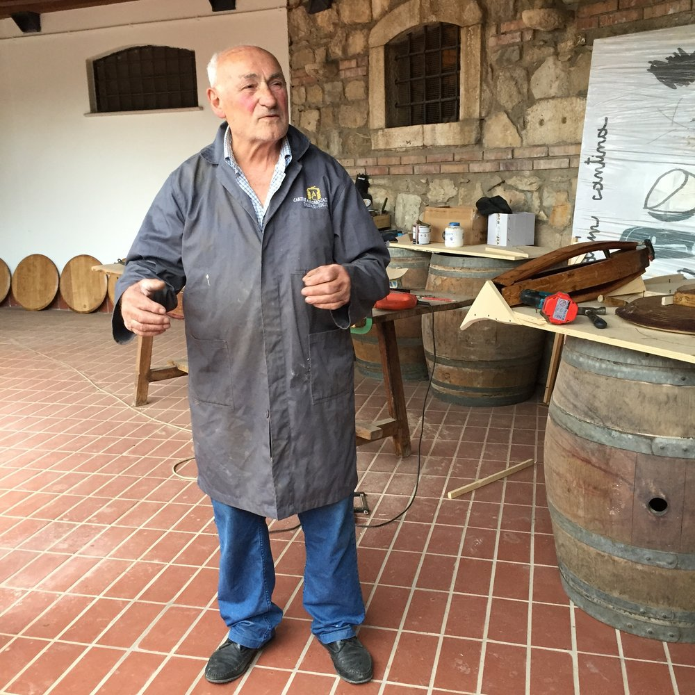 Antonio Caggiano hates to see anything go to waste so he transforms old wine barrels into furniture.