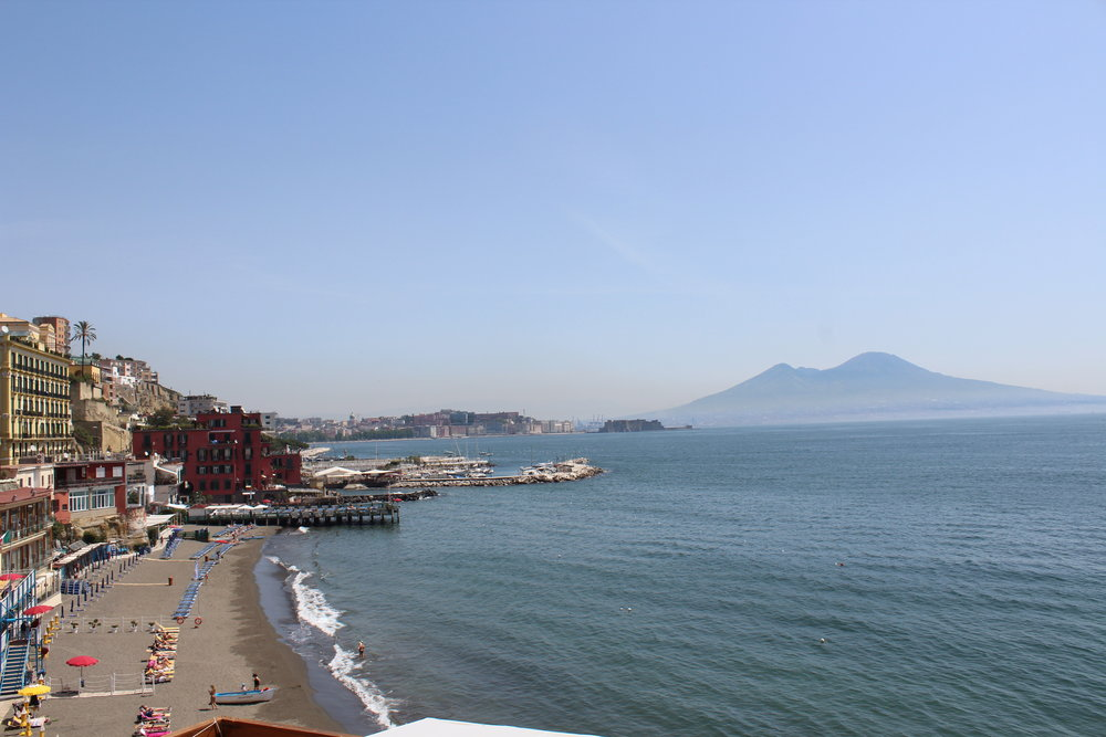 View of Mount Vesuvius from our hotel