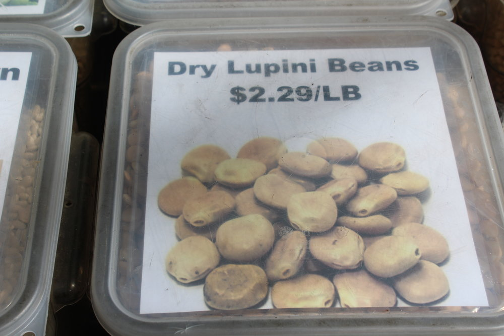 Dried lupini beans at Teitel Bros at 2372 Arthur Avenue.