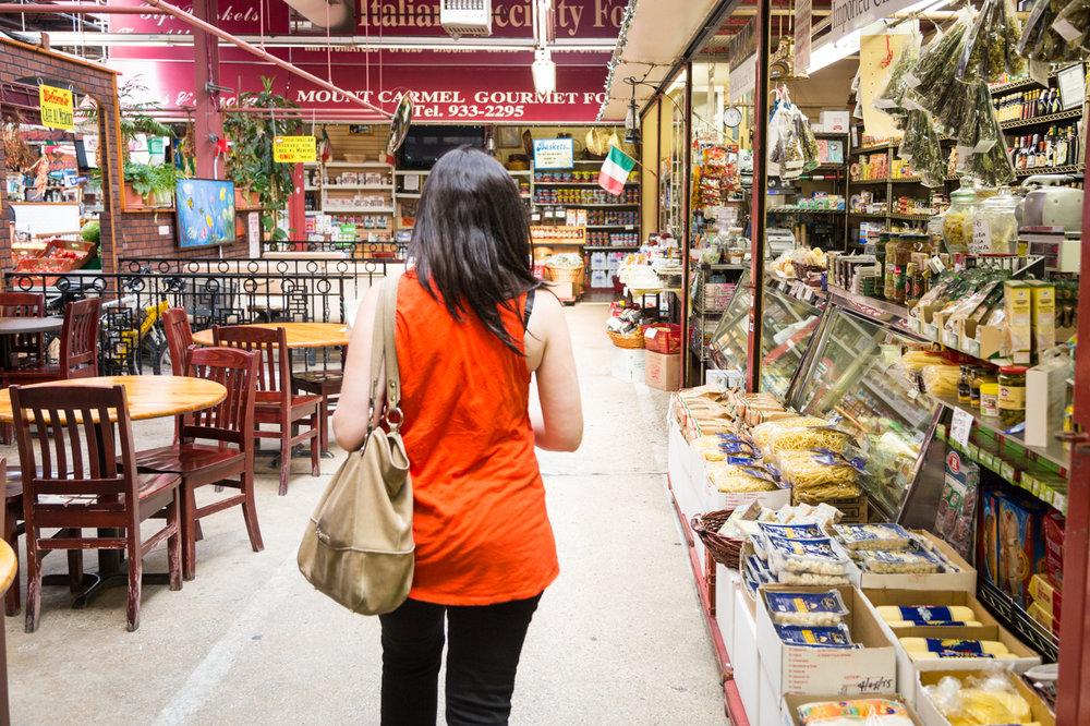 Arthur Avenue Food Tours founder Danielle Oteri explores the Arthur Avenue Retail Market.