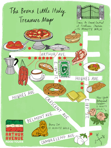 Arthur Avenue map of best restaurants and shops.jpeg