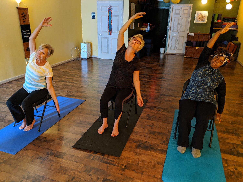 Chair Yoga Basic Free Online Strongheart Yoga