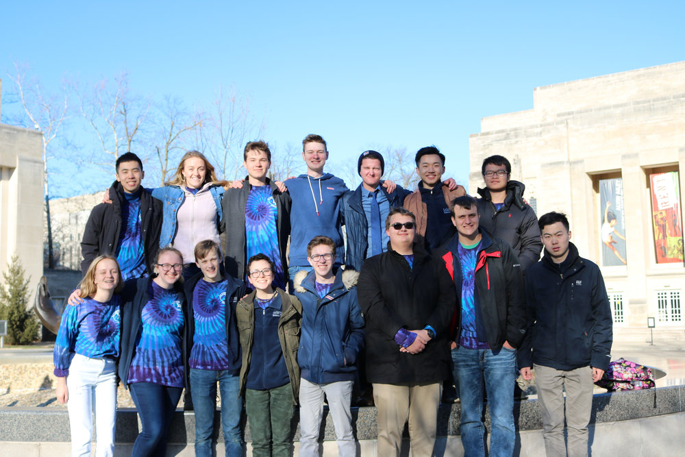 La Lumiere's Blue team pose together at Indiana University after the State competition on March 16, 2019