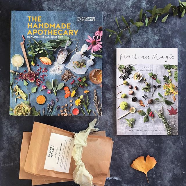 🌸It's giveaway time🌸  We've joined together with two other Instagram friends to offer this herbal giveaway. We're giving away a copy of the beautiful book 'Handmade Apothecary' by @handmade_apothecary , four packets of our herbal tea blends and a copy of the gorgeous Plants Are Magic magazine (volume 2) by @plants_are_magic (featuring articles and recipes by Handmade Apothecary and us!). To enter, please do the following:  1. Like this photo and tag a friend.  2. Tag more friends if you like. Each tag will be a new entry into the competition.  3. Follow @hackneyherbal, @handmade_apothecary & @plants_are_magic  This competition is open worldwide and will close on Monday 4th Feb at midnight GMT. One winner will be chosen at random from all the entries. This competition is not affiliated with Instagram. 🌿🌿Good luck!🌿🌿