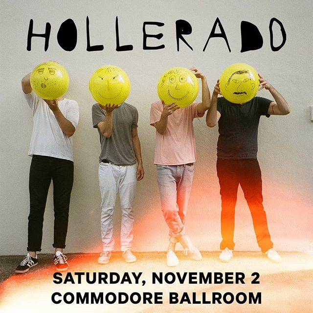 PRESALE ALERT 🚨 Get tickets for @Hollerado's farewell tour at the Commodore on Saturday, Nov. 2 using password VACATION until Friday at 9am. Get tickets at #LiveNation.com now - link in bio.
