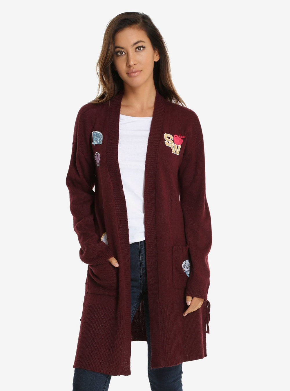 disney princess long line patches cardigan.jpg