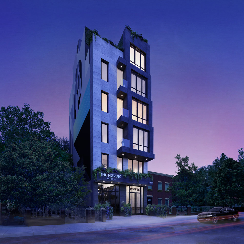 THE NORDIC    23-67 31st Street, Astoria   European luxury comes to Queens in 2018.