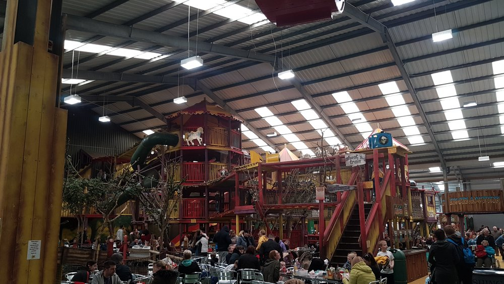 This was the amazing play area that Charlie could not access, thankfully the fun fair more than made up for it