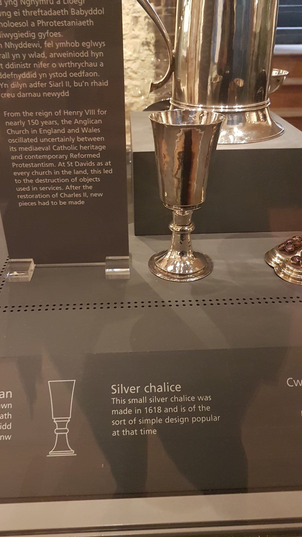 Silver chalice dating back to 1618